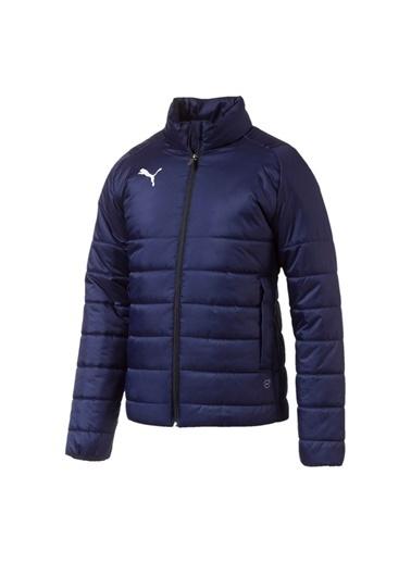 Puma Puma 65530106 Liga Casuals Padded Jacket Lacivert - Beyaz Erkek Mont Lacivert
